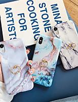 Недорогие -чехол для яблока iphone xs / iphone xr / iphone xs держатель макс кольца / задняя крышка с рисунком мраморное тпу для iphone x 8 8plus 7 7plus 6 6s 6plus 6splus