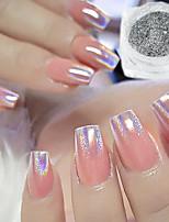 Недорогие -1 шт. 0,2 г павлин голографический хамелеон блестки ногтей красочные лазерный блеск порошок пыли украшения искусства ногтя пигмент