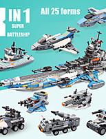 Недорогие -Конструкторы 1 pcs Военные корабли совместимый Legoing моделирование Колесный экскаватор Боец Все Игрушки Подарок
