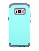 Недорогие -Кейс для Назначение SSamsung Galaxy S8 Защита от удара Кейс на заднюю панель Однотонный ТПУ / ПК