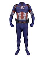 Недорогие -Вдохновлен Косплей Супер-герои Аниме Косплэй костюмы Японский Косплей Костюмы Костюмы зентай / Подтяжки / 1 ремень Назначение Муж.