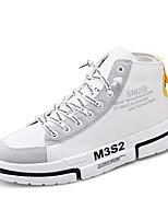 Недорогие -Муж. Комфортная обувь Полотно / Полиуретан Осень На каждый день Кеды Нескользкий Черный / Белый / Серый