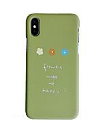 Недорогие -чехол для яблока iphone xs / iphone xr / iphone xs max матовый / узор с задней обложкой цветочного ПК для iphone 6/7/8 / 6plus / 7plus / 8plus / x