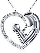 Недорогие -Жен. Ожерелья с подвесками Сердце модный Симпатичные Стиль Хром Серебряный 45 cm Ожерелье Бижутерия 1шт Назначение Подарок