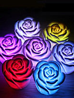 cheap -4Pcs Rose Flower LED Light Night Changing Romantic Candle Light Lamp Festival Party Decoration Light