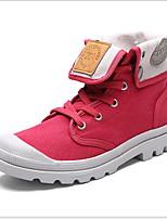 Недорогие -Муж. Армейские ботинки Полотно Зима Ботинки Сохраняет тепло Ботинки Черный / Светло-серый / Пурпурный