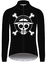 Недорогие -21Grams One Piece Муж. Длинный рукав Велокофты - Черный Велоспорт Джерси Верхняя часть Устойчивость к УФ Дышащий Влагоотводящие Виды спорта 100% полиэстер Горные велосипеды Одежда / Слабоэластичная