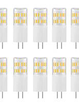 Недорогие -10 шт. 3 W Двухштырьковые LED лампы 300 lm G4 T 31 Светодиодные бусины SMD 4014 Новый дизайн Тёплый белый Белый 220-240 V