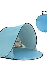 Недорогие -3 человека Палатка с экраном от солнца Семейный кемпинг-палатка На открытом воздухе Легкость С защитой от ветра Устойчивость к УФ Однослойный Автоматический Палатка 1000-1500 mm для