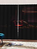 Недорогие -Роскошные ультрафиолетовые цифровые печатные шторы хэллоуин небо личность оригинальный занавес затемнения на заказ готовые для декора