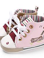 Недорогие -Мальчики / Девочки Полотно Кеды Младенцы (0-9m) / Малыш (9м-4ys) Обувь для малышей Зеленый / Розовый / Серый Весна / Осень