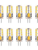 Недорогие -10 шт. 3 W LED лампы типа Корн Двухштырьковые LED лампы 300 lm G4 T 48 Светодиодные бусины SMD 4014 Тёплый белый Белый 12 V