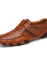 Недорогие -Муж. Клонистые кроссовки Полиуретан Лето Мокасины и Свитер Черный / Коричневый