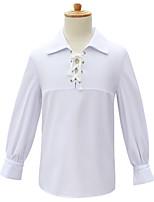 Недорогие -Принц Косплей Средневековый Эпоха возрождения Блузы / сорочки Муж. Костюм Белый Винтаж Косплей На каждый день Хлопок Длинный рукав Средняя длина