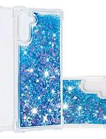 Недорогие -Кейс для Назначение SSamsung Galaxy Note 9 / Note 8 / Galaxy Note 10 Защита от удара / Движущаяся жидкость / Прозрачный Кейс на заднюю панель Сияние и блеск ТПУ