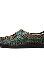 Недорогие -Муж. Комфортная обувь Сетка Наступила зима Мокасины и Свитер Черный / Зеленый / Синий