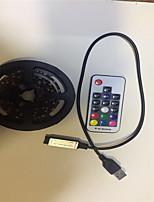 Недорогие -2м Гибкие светодиодные ленты / RGB ленты 60 светодиоды SMD5050 17-клавишный пульт дистанционного управления / 2 x соединительная линия USB RGB USB / Для вечеринок / Декоративная Работает от USB 1