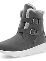 Недорогие -Муж. Кожаные ботинки Свиная кожа Зима На каждый день Ботинки Для прогулок Сохраняет тепло Сапоги до середины икры Черный / Коричневый / Серый
