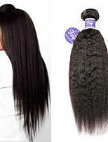 Недорогие -3 Связки Индийские волосы Вытянутые Не подвергавшиеся окрашиванию 100% Remy Hair Weave Bundles Человека ткет Волосы Удлинитель Пучок волос 8-28 дюймовый Нейтральный Ткет человеческих волос