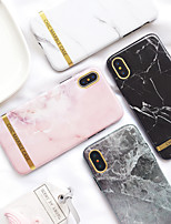 Недорогие -Кейс для Назначение Apple iPhone XS / iPhone XR / iPhone XS Max Ультратонкий / С узором Кейс на заднюю панель Мрамор ТПУ