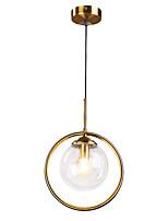 Недорогие -Круглый Подвесные лампы Рассеянное освещение Электропокрытие Металл Стекло 110-120Вольт / 220-240Вольт