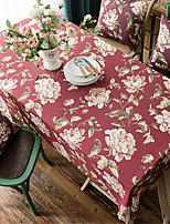 Недорогие -На каждый день полиэфирное волокно Квадратный Скатерти Цветочный принт С узором Защита от влаги Настольные украшения