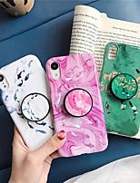 Недорогие -чехол для яблока iphone xs / iphone xr / iphone xs max с подставкой / узором задняя крышка животное / мраморное тпу для iphone 6 6 плюс 6s 6s плюс 7 8 7 плюс 8 плюс x xs