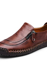 Недорогие -Муж. Комфортная обувь Полиуретан Лето Мокасины и Свитер Дышащий Черный / Желтый / Хаки