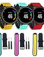 Недорогие -Ремешок для часов для Forerunner 630 / Forerunner 620 / Forerunner 235 Garmin Классическая застежка / Инструменты сделай-сам силиконовый Повязка на запястье