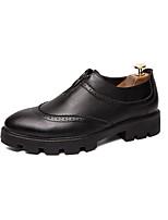 Недорогие -Муж. Комфортная обувь Полиуретан Лето Мокасины и Свитер Черный