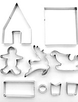 Недорогие -9pcs Нержавеющая сталь Очаровательный Творчество Новогодняя тематика Повседневное использование Хлеб Печенье Животный принт Формы для пирожных Пивные инструменты Десертные инструменты