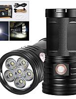 Недорогие -XM6 Светодиодные фонари 4800 lm Светодиодная лампа LED 6 излучатели Руководство 3 Режим освещения с USB кабелем Водонепроницаемый Для профессионалов Анти-шоковая защита