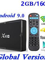Недорогие -x96h Smart TV Box Android 9.0 2 ГБ 16 ГБ Allwinner H603 Wi-Fi 1080 P 4 К Netflix YouTube установить приставку