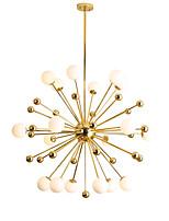 Недорогие -современные светодиодные стеклянные подвесные светильники гостиная столовая глобус люстра с 18 лампами гальваническим золотом отделка цоколь g4