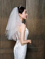 Недорогие -Два слоя Классический и неустаревающий Свадебные вуали Фата до локтя с Однотонные 25,59 В (65см) Тюль