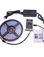 Недорогие -5 метров Гибкие светодиодные ленты / RGB ленты / Пульты управления 300 светодиоды 5050 SMD 1 х 12 В 5A блок питания Разные цвета Творчество / Для вечеринок / Декоративная 85-265 V 1 комплект