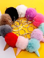 Недорогие -Брелок Мороженное корейский Мода Элегантный стиль Модные кольца Бижутерия Черный / Светло-синий / Светло-Розовый Назначение Подарок Свидание