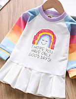 Недорогие -Дети (1-4 лет) Девочки Мультипликация Платье Красный