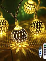 Недорогие -3 м гирлянды 20 светодиодов 1 13-клавишный пульт дистанционного управления теплый белый креатив / светодиодный рождественский фонарь / вечеринка / декоративный комплект 5 в 1