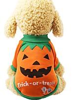Недорогие -Собаки Толстовка Одежда для собак Мультипликация Лиловый Оранжевый Желтый Полиэстер Костюм Назначение Зима Хэллоуин