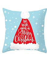 Недорогие -1 штук Полиэстер Наволочка, Праздник Рождество Рождество Бросить подушку