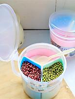 Недорогие -Высокое качество с Пластик Коробки для хранения / Хранение сыпучих продуктов / Прозрачная стойка для хранения Для дома / Необычные гаджеты для кухни Кухня Место хранения 1 pcs