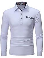 Недорогие -Муж. Polo Деловые / Элегантный стиль Однотонный Белый