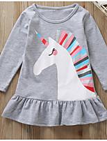 Недорогие -Дети (1-4 лет) Девочки Мультипликация Платье Серый