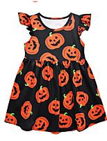 Недорогие -Дети (1-4 лет) Девочки Геометрический принт Платье Черный