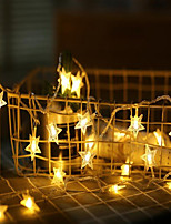 Недорогие -6 м 40 светодиодов звезда фея гирлянды струнные огни новинка на новый год рождественская свадьба дома крытый украшения с питанием от батареи