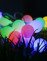 Недорогие -3 м гирлянда 20 светодиодов dip светодиод теплый белый / многоцветный декоративные / рождественские свадебные украшения на солнечных батареях 1 шт.