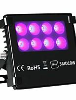 Недорогие -ac85-265v ip65 10w черный свет светодиодные прожекторы dj диско ночной клуб вечеринка неоновое свечение уф чернил отверждения флуоресцентный эффект света