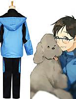 Недорогие -Вдохновлен Юрий !!! на льду Косплей Аниме Косплэй костюмы Японский Косплей вершины / дна Пальто Назначение Муж.