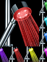 cheap -LED Shower Head Color Changing 2 Water Mode 7 Color Glow Light Automatically Changing Handheld Showerhead